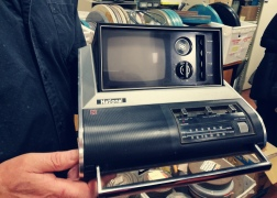 A portable television from the mid-1970s